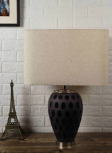 Load image into Gallery viewer, Purple Dot Glass Table Lamp with 2 [WHITE, BEIGE] Lampshade