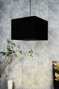 black lampshadeRectangular Classic Black Color Lampshade Small