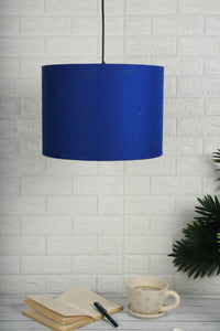blue lampshade