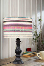 Load image into Gallery viewer, Shady Black Table Lamp with Multicolor Lampshade