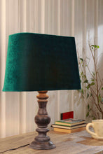 Load image into Gallery viewer, Bottle Green Velvet Shade Shady Black Table Lamp