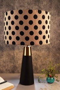 Dark-Rocky Road Table Lamp in 2 [POLKA DOTS, BEIGE] Lampshade