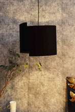 Load image into Gallery viewer, Designer Classic Black Cotton Lampshade (15inches)