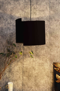 Designer Classic Black Cotton Lampshade (15inches)