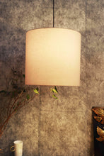 Load image into Gallery viewer, Small Beige Color Cotton Hanging Lampshade [12Inches]