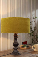 Load image into Gallery viewer, Shady Black Table Lamp with Olive Green Lampshade