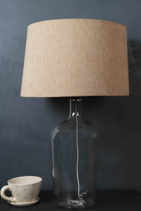 Clear Bottle Table Lamp with 2 Tapered [BLACK, BEIGE] Shade