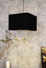 Load image into Gallery viewer, black lampshadeRectangular Classic Black Color Lampshade Small