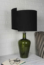 Load image into Gallery viewer, Newly Design Black Shade Merlot Green Table Lamp
