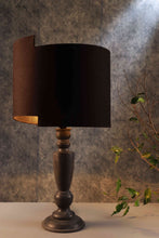 Load image into Gallery viewer, Newly Designed Black Lampshade with Trophy Smoked Table Lamp