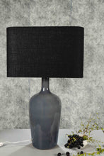 Load image into Gallery viewer, Smokey Bottle Table Lamp with 2 [BLACK, WHITE] Rectangular Shade