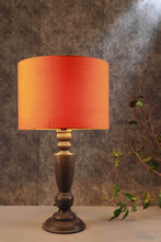 Load image into Gallery viewer, Trophy Smoked Table Lamp with 2 [ORANGE, GREEN POLKA DOTS] Lampshade