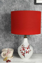 Load image into Gallery viewer, Cherry Blossom Table Lamp with 2 (Small, Large) Red Lampshade