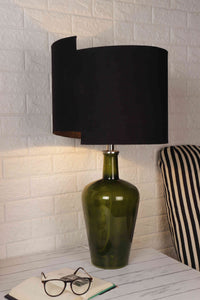 Newly Design Black Shade Merlot Green Table Lamp