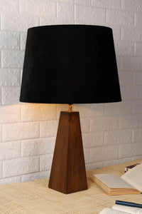 Tree Trunk Table Lamp with 2 [BLACK, BEIGE] Tapered Lampshade