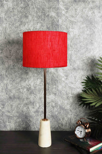 Roseata Marble Table Lamp with 4 [BLACK, GREY, RED, GREEN VELVET] Shade