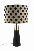 Load image into Gallery viewer, Dark-Rocky Road Table Lamp in 2 [POLKA DOTS, BEIGE] Lampshade