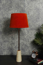 Load image into Gallery viewer, Roseata Marble Table Lamp with 2 [PINK VELVET, ORANGE VELVET] Shade