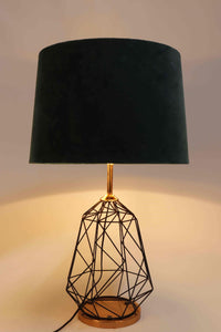 Matrix Table Lamp with 4 [WHITE, GREEN VELVET, ORANGE, PINK] Shade