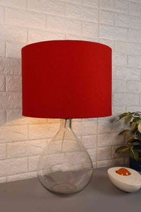 Tear Drop Table Lamp with 4 [RED, BLUE, ORANGE, BABY BLUE] Lampshade