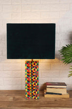 Load image into Gallery viewer, Color Bomb Table Lamp with 3 [VELVET, GREEN VELVET, WHITE] Square Shade