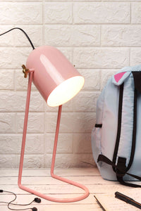 Pink Panther Study Lamp with Baby Pink Color Metal Base