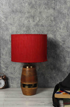 Load image into Gallery viewer, Tribal Table Lamp with 4 [BLACK, RED, GREEN VELVET, GREY] Shade