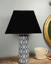 Load image into Gallery viewer, Phantom Table Lamp with 4 Trapezium [VELVET, BLACK, WHITE, BEIGE] Shade