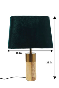 Old is Gold with 2 (Bottle Green Velvet, Black Fabric) Lampshade
