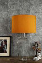 Load image into Gallery viewer, Clear Bottle Table Lamp with 3 [ORANGE, FLOWER PRINTED, TURQUOISE] Shade