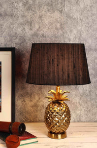 Red & Black Tapered Shade Tropical Table Lamp