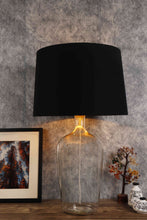 Load image into Gallery viewer, Clear Bottle Table Lamp with 2 Tapered [BLACK, BEIGE] Shade