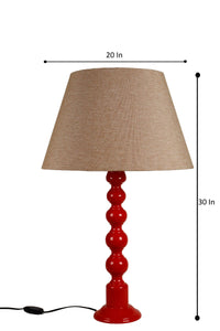 Red Caterpillar Table Lamp with 2 [WHITE, JUTE BROWN] Shade
