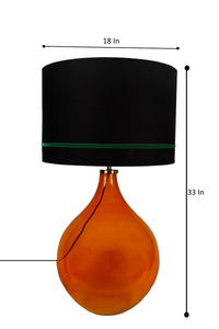 Big Bump Table Lamp with 2 [RED & GREEN] Stripe Black Shade