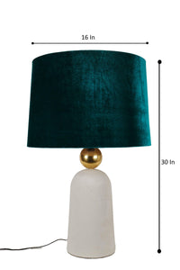 Golden Egg Table Lamp with 3 [BLACK, GREEN, YELLOW] Shade