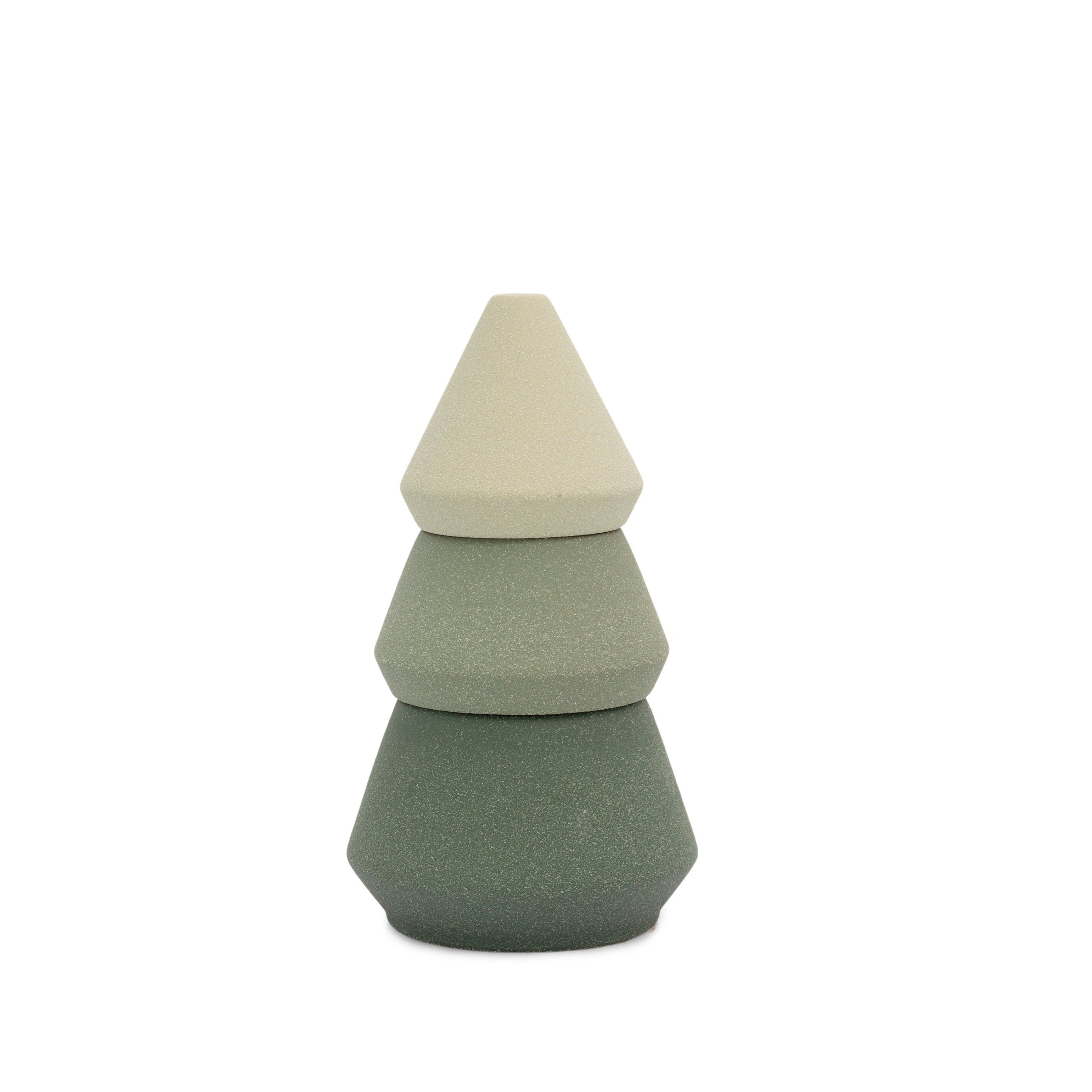 Green Tree Stack Candle & Incense Holder