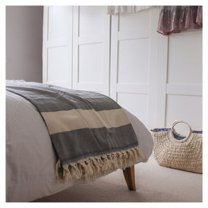London Huge Cotton Hammam Throw / Blanket