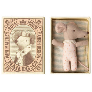 Maileg girl sleepy/wakey mouse in box