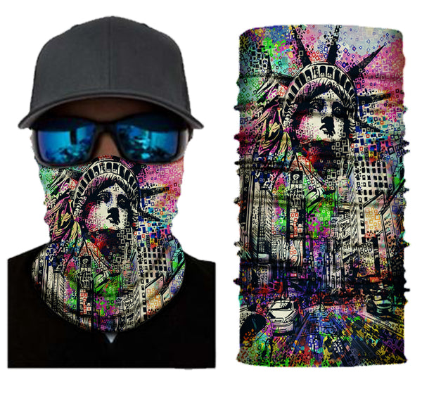 (S129)  Multicolor Gaiter with Statue of Liberty