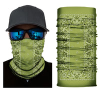 (S155) Traditional Bandanna Design Gaiter - Green