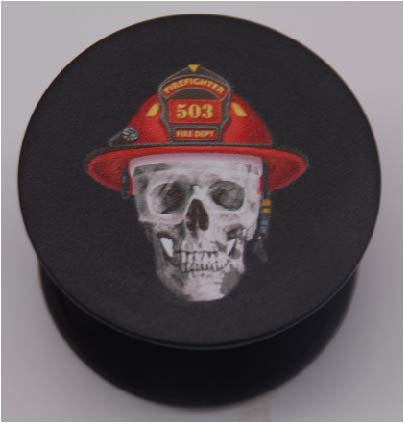 Expandable Phone Grip - Firefighter Skull