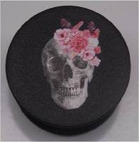 Expandable Phone Grip - Skull with Pink Flowers