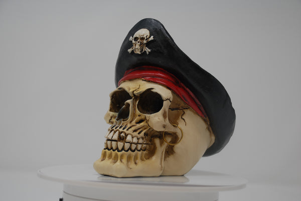 (SK20) Resin Pirate Skull with Earring