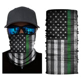 (X5002) USA Flag Gaiter - Thin Green Line