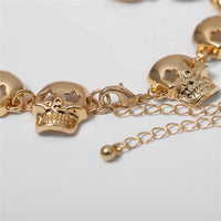 Skull Necklace/Choker Available in Gold or Silver Color
