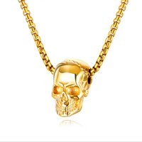 Skull Pendant Necklace - Stainless Steel(3 Colors Available)