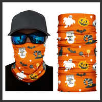 (HW03) Halloween Gaiter - Orange with Ghosts/Goblins
