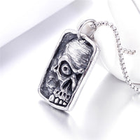 Skull Pendant Necklace - Stainless Steel