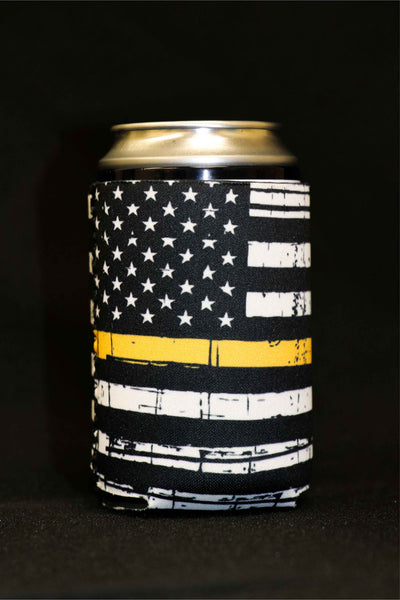 Thin Yellow Line Short Can Cooler(Pack of 5)