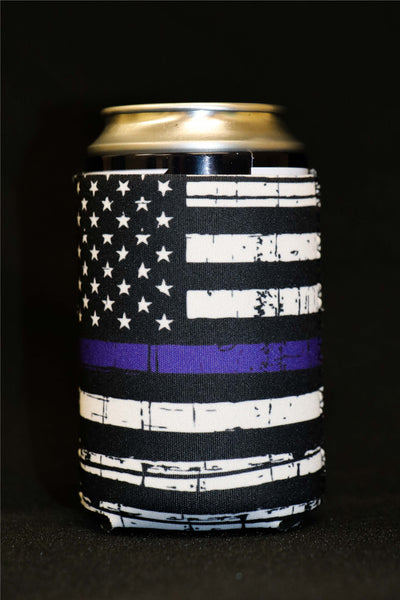 Thin Blue Line Short Can Cooler(Pack of 5)